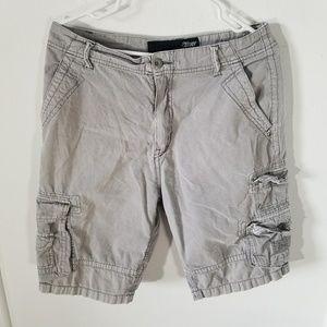 Gray Cargo Streetwear Shorts